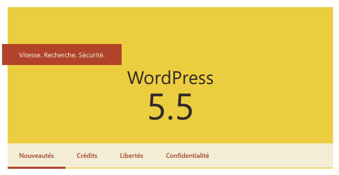 WordPress 5.5 : Vitesse, Recherche et Sécurité.